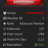 Enhanced User Info Panel